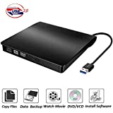 COOFO External DVD/CD Drive, DVD-RW USB DVD Drive Burner Ultra Slim Portable DVD Writer CD/DVD-RW Burner for Laptop and Desktop PC Windows and Linux OS Apple Mac Macbook Pro etc