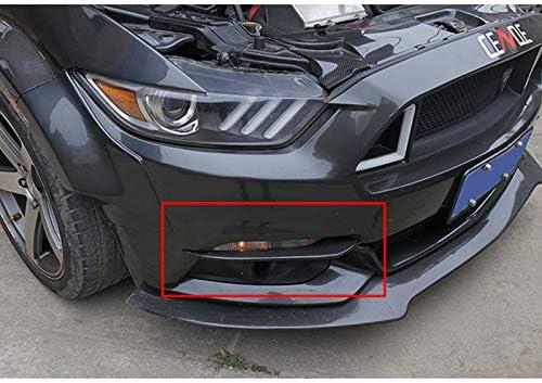 Carbon fiber ABS Front Fog Light Eyelid Cover Trim For Ford Mustang 2015-2018