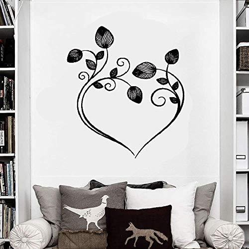 Wall Stickers Art Decor Decals Flowers Heart Bedroom Design -