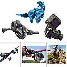 Universal Sportsman Gun Fishing Rod Bow Arrow Retaining Fixed Clip Holder Mount Set For GoPro Hero SJCAM Action Camera