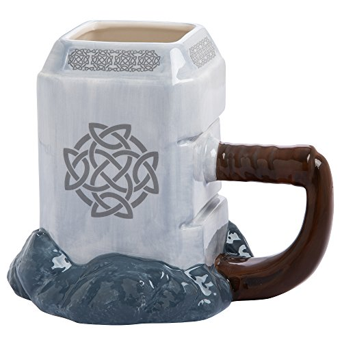 Vandor 26401 Marvel Thor Mjolnir Ceramic Sculpted Mug ()