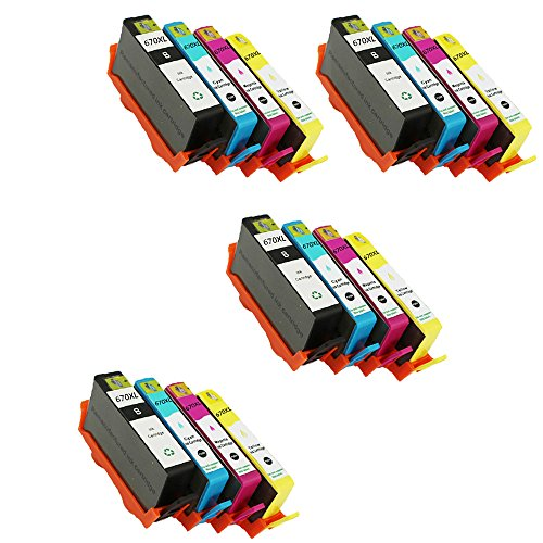Ink Cartridge Replacement for HP 670XL for Deskjet Ink Advantage 3525 4615 4620 4625 5525 6526 Printer ()