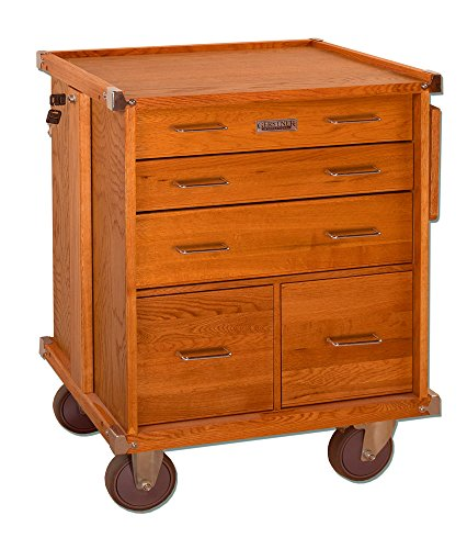 Gerstner International GI-R24 Red Oak 5-Drawer Rolling Cabinet ()