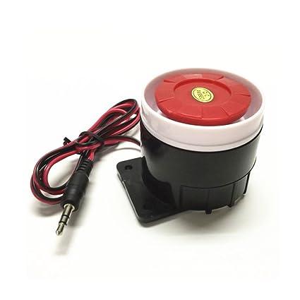 Altavoz Antirrobo Alarma, Mini Sirena Cableada 12 V, Sirena Pequeña de Seguridad para Sistema de Alarma de Seguridad para el Hogar, Bocina Alarma ...