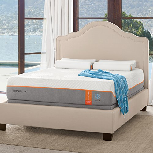 Tempur-Pedic TEMPUR-Contour Elite Breeze 12.5-Inch Firm Cooling Foam Mattress, King, Made in USA, 10 Year Warranty