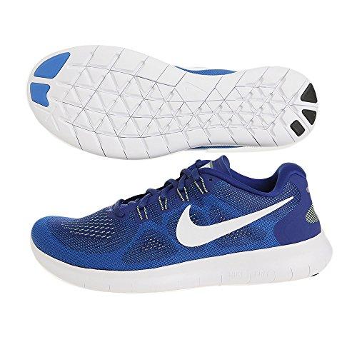 Nike Free Run 2017, Scarpe Running Uomo 401 DEEP ROYAL BLUE/WHITE-SOAR