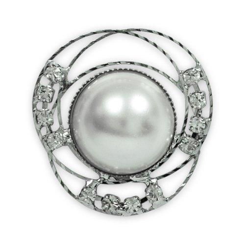 Expo Pearl and Rhinestone Accent Button