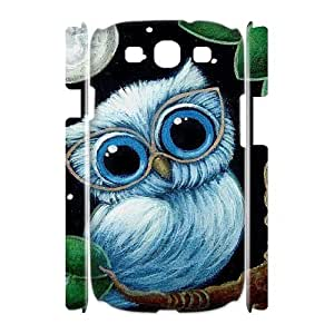 Owl Brand New 3D Cover Case for Samsung Galaxy S3 I9300,diy case cover ygtg527894