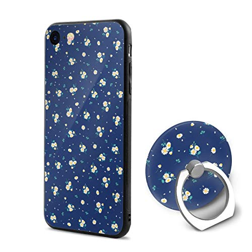 iPhone 6/6s Case Sweet Daisies Ditsy 360 Degree Rotating Ring Kickstand Case Shockproof Anti-Scratch Impact Protection Function for iPhone ()