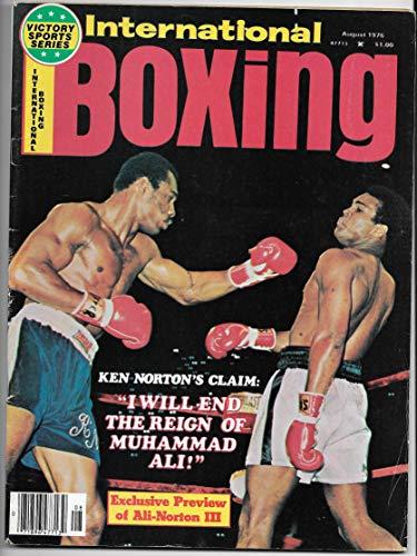 - August 1976 International Boxing Magazine Muhammad Ali & Ken Norton On The Cover