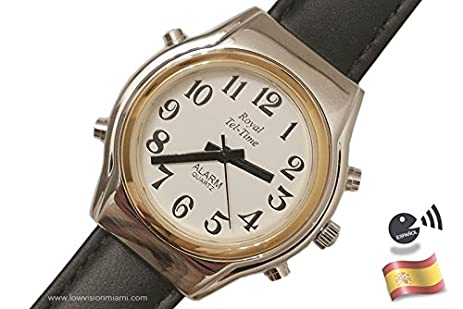Reloj Parlante Unisex Pulsera Extensible - Español -