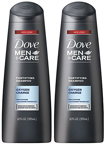 Fortifying Care - Dove Men+Care Fortifying Shampoo, Oxygen Charge, 12 Ounce (Pack of 2)