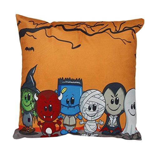Iuhan® Fashion Halloween Pillow Case Sofa Waist Throw Cushion Cover Home Decor (K) (Ikea's Halloween)