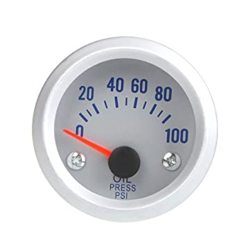 WINOMO Medidor Manómetro de Presión de Aceite con 1/8 NPT Sensor Universal para Coche