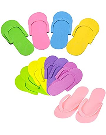 a6c8e46ad LOSOUL 12 Pairs Disposable Foam Pedicure Slippers Multi Color Flip Flop  Salon Nail Spa