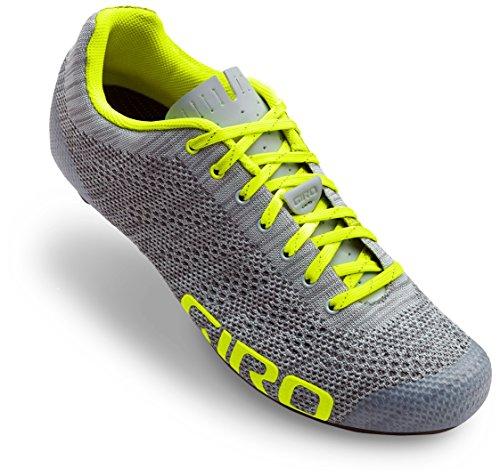 Giro Empire E70 Knit Cycling Shoes - Men's Grey Heather/Highlight Yellow ()