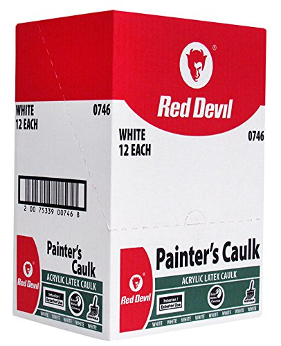 - Red Devil Painters Caulk White, 10.1 Oz., Case of 12