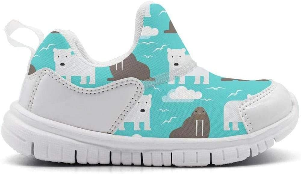 ONEYUAN Children The Polar Bear and Walrus Kid Casual Lightweight Sport Shoes Sneakers Walking Athletic Shoes