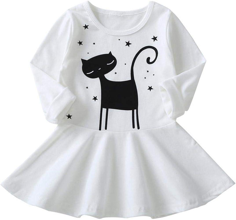 QinMM Vestido de Gato de Princesa del bebé niña, Falda de Fiesta ...