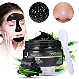 #10: LuckyFine Bamboo charcoal peel-off blackhead mask- Purifying Quality Black Pore Removal Peel off Strip Charcoal Mask for Face Nose