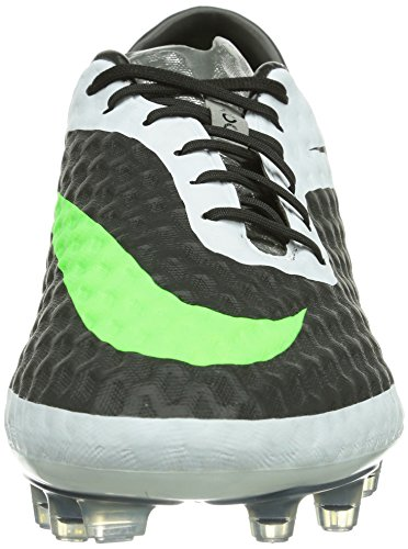 Nike - Zapatillas de fútbol Hypervenom Phantom FG , Hombre , Blanco (Black/Neo Lime-White) Blanco (Black/Neo Lime-White)