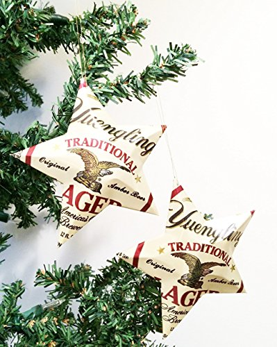 Yuengling Beer Can Stars, Recycled Aluminum Beer Can Stars, Upcycled Yuengling Traditional Lager Christmas (Tiny Beer Cans)