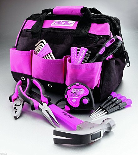 The Original Pink Box 12-Inch Tool Bag and 30-Piece Tools Set Ladies NEW
