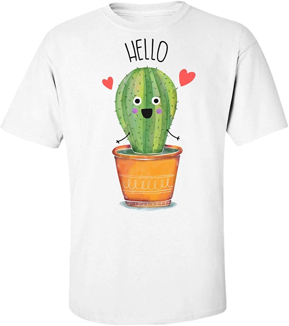 Finest Prints Cute Little Cactus Saying Hello Camiseta para ...