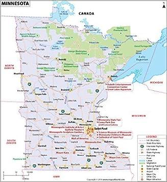 Amazon Com Minnesota Map Laminated 36 W X 39 H