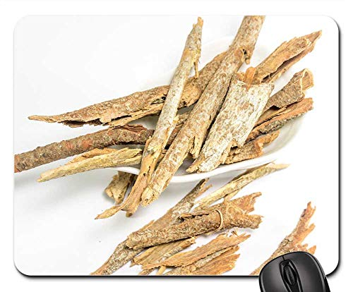 Mouse Pad - Dried Cassia Bark White Table Background Ayurveda