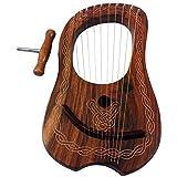 10 cordes en métal Lyra Harp avec étui en bois de palissandre