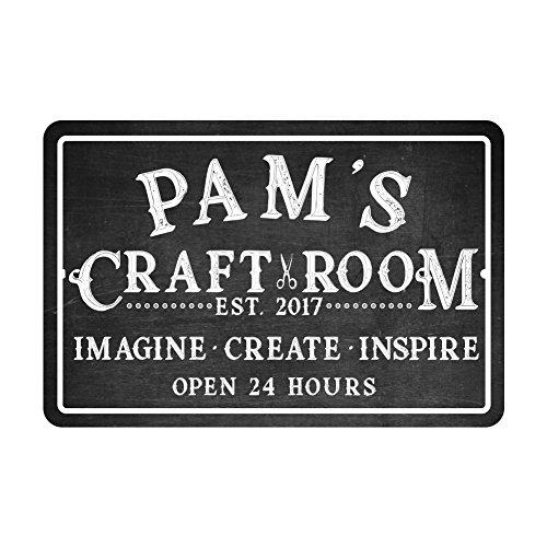 (Personalized Craft Room Chalkboard Look Metal Room)