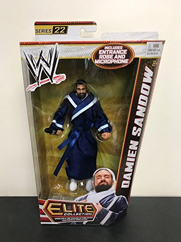 DAMIEN SANDOW 2013 WWE Elite Collection Series 22 action figure with Microphone