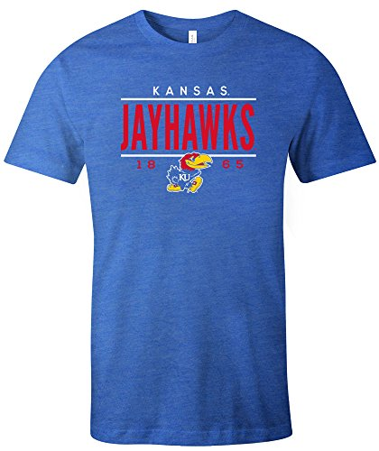(NCAA Kansas Jayhawks Tradition Short Sleeve Tri-Blend T-Shirt, Royal,Medium)