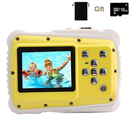 Kids Underwater Camera - Kids Digital Camera, YTAT Underwater Digital Action Camera for Kids, Dust Proof Waterproof Camcorder with 16G SD card 5M CMOS for Children Boys Girls Gift Toys