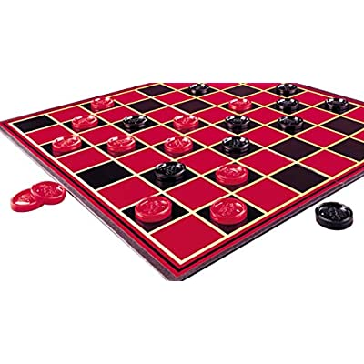 Pressman Checkers -- With Folding Board and Interlocking Checkers: Toys & Games