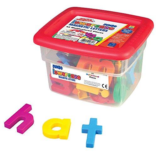 Educational Insights Jumbo AlphaMagnets- Multicolored Lowercase (Set of 42)