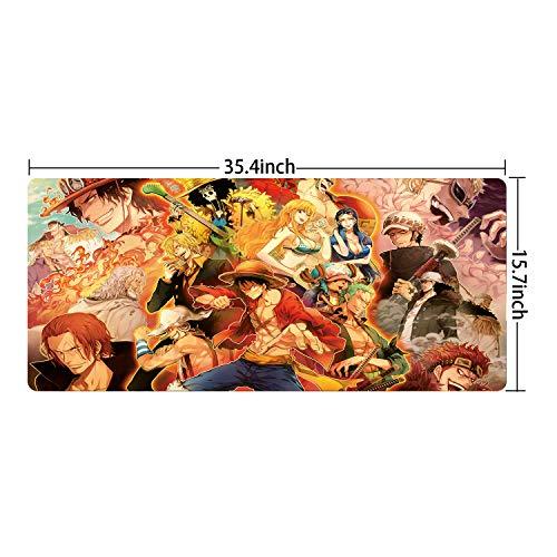 Ruifengsheng, erweitertes Gaming-Mauspad, Größe XXL, aus rutschfestem Gummi, mit genähten Kanten, 89,9cm x 39,9cm