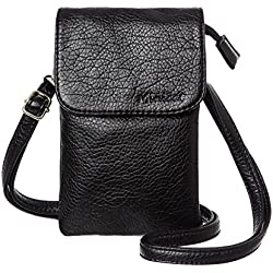 MINICAT Roomy Pockets Series Small Crossbody Cell Phone Purse Wallet Bag For Women(Black)