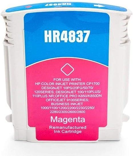 Cmn Print Pool compatible – como repuesto para HP – Hewlett Packard CP 1700 Series (11/C 4837 AE) – Cartucho de tinta Magenta – 29 ml: Amazon.es: Informática