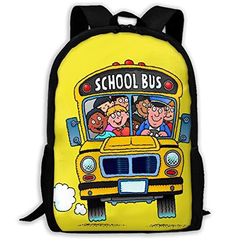 Laptop Backpack Bus Funny Art Zipper College Bookbag Daypack Travel Rucksack Gym Bag For Man Women