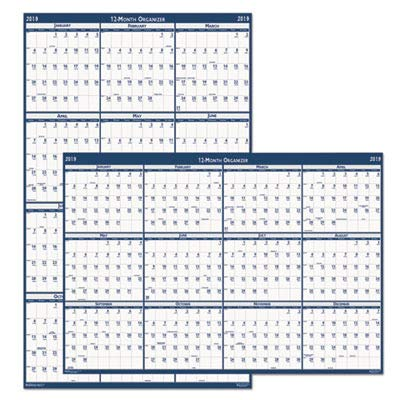 House of Doolittle 395 Poster Style Reversible/Erasable Academic Yearly Calendar, 24 x 37, 2015-2016