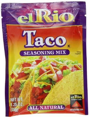 - El Rio Taco Seasoning Mix, 1.25-Ounce Packet (Pack of 20)
