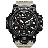 Mens Military Waterproof Digital Watch Analog Display Sports Watches Multifunctional Wrist Watches for Men