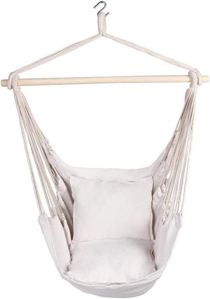 Icegrape Hanging Chair Seat Swing Hammock Macrame Swing Chairs for Indoor//Outdoor Home Patio Porch Yard Garden Deck