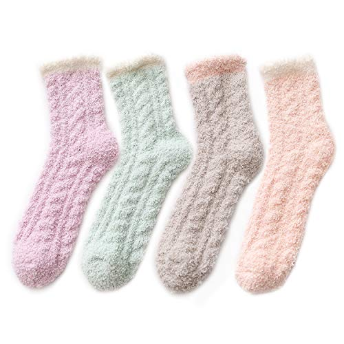 - Winter Womens Warm House Slipper Socks Super Soft Microfiber Fuzzy Home Socks