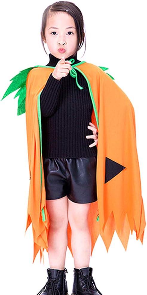 JUNGEN Capa Niños de Calabaza Disfraz de Halloween para Niño y ...