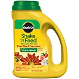 Miracle-Gro Shake 'n Feed All Purpose Plant Food Plus Weed Preventer1, 4.5-Pound (Slow Release Plant Fertilizer Plus Weed Preventer)