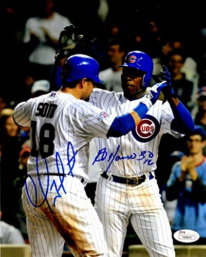 Autographed Signed Geovanny Soto & Alfonso Soriano Jsa Chicago Cubs 8x10 Photo - Certified Authentic