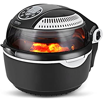 Tinychefs Multifunctional Airfryer, Oil-Less Airfryer 10 litres Health Halogen Turbo Hot Air Fryer Multi Grill Oven Temperature Control No Splatter
